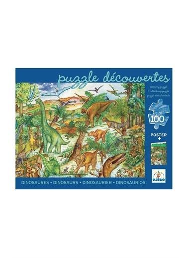 Djeco Djeco Dev Puzzle 100 Parça/ Dinosaurs Pembe